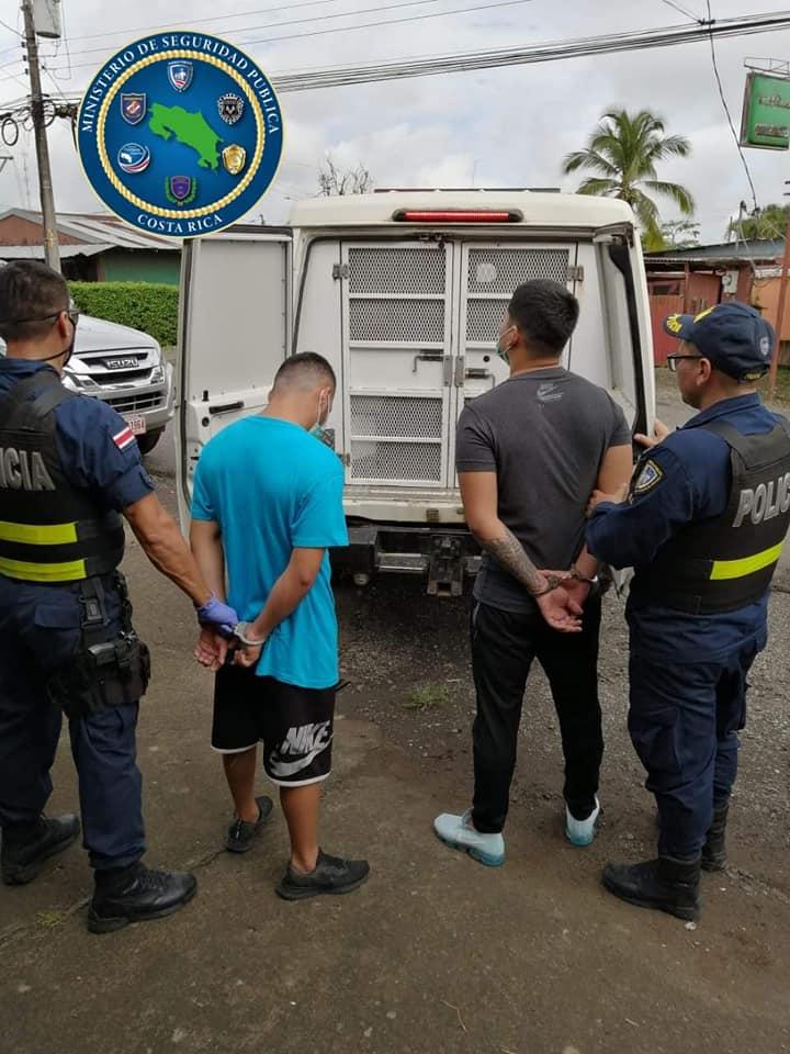 6 meses de prisión preventiva contra dos sospechosos detenidos en Upala