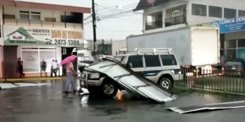 Pital de San Carlos afectado por torbellino