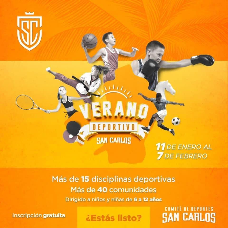 Verano Deportivo en San Carlos arranca en enero 2021.