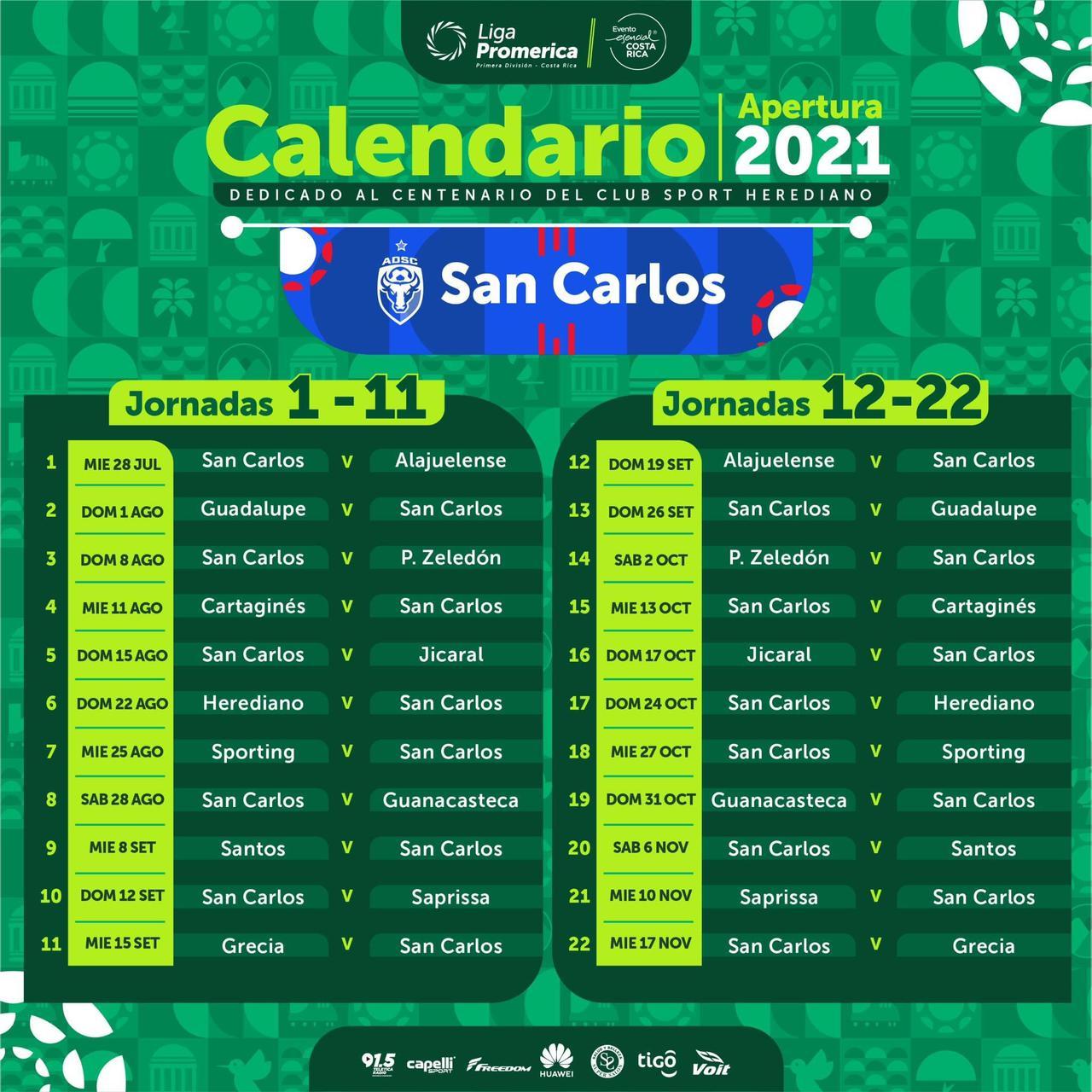 Listo el calendario de los Toros del Norte para el Apertura 2021.