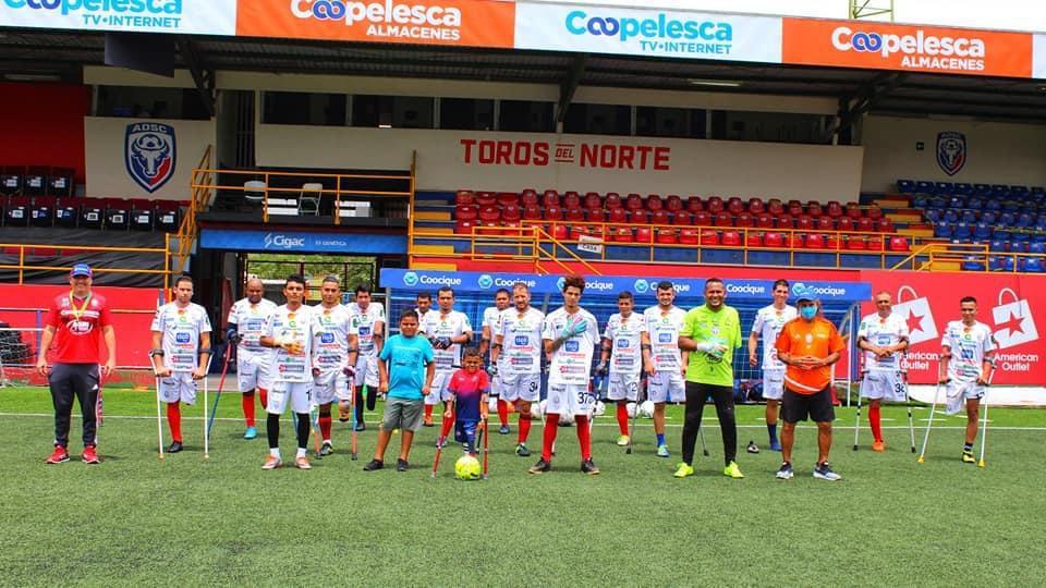 Fútbol de amputados de San Carlos logra ganar en el regreso a la competición.