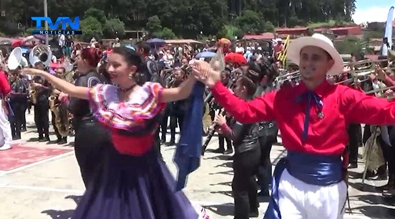 Banda Municipal de Zarcero presente en el Bicentenario
