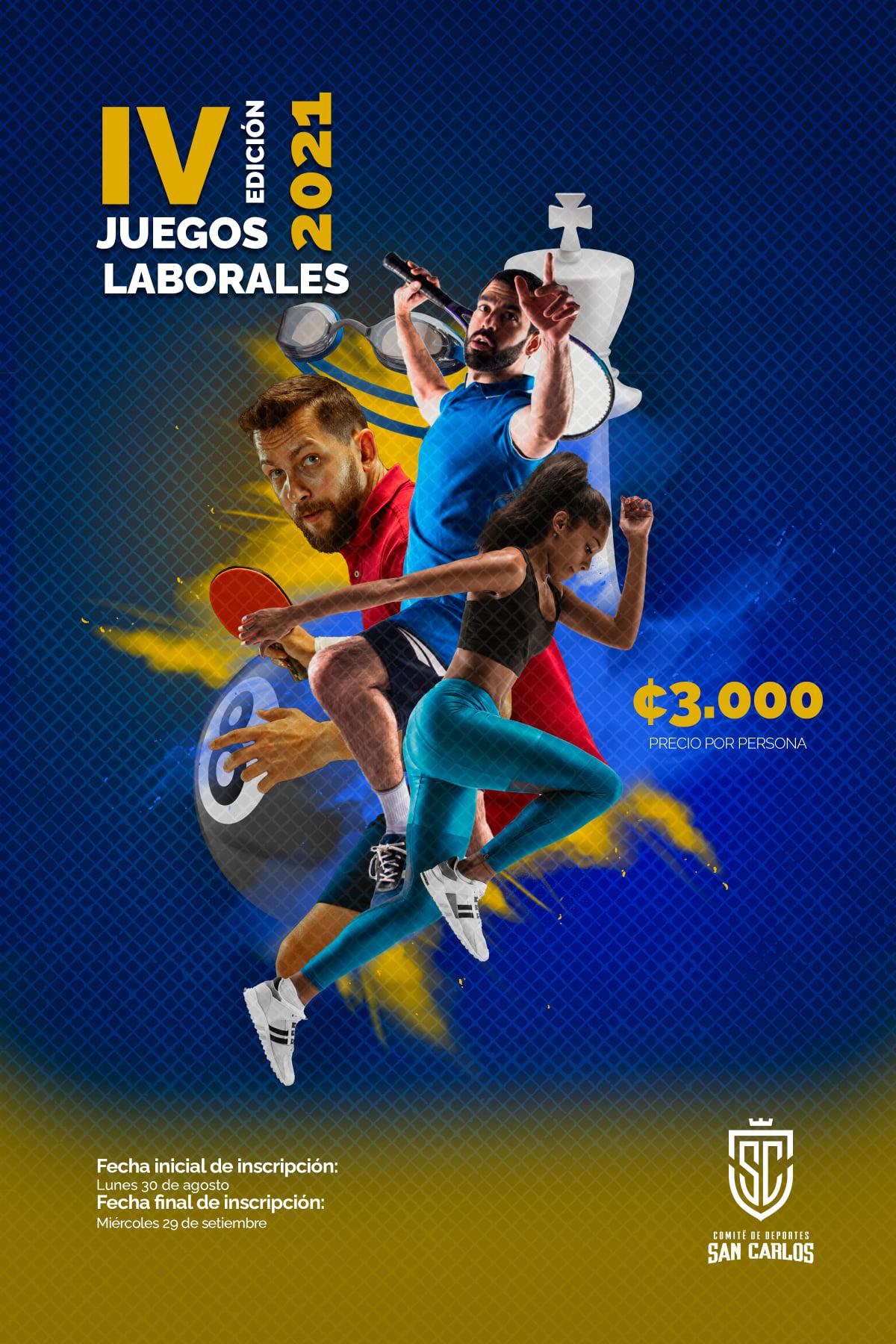 Juegos Laborales en San Carlos, viene con Copa Rotativa.