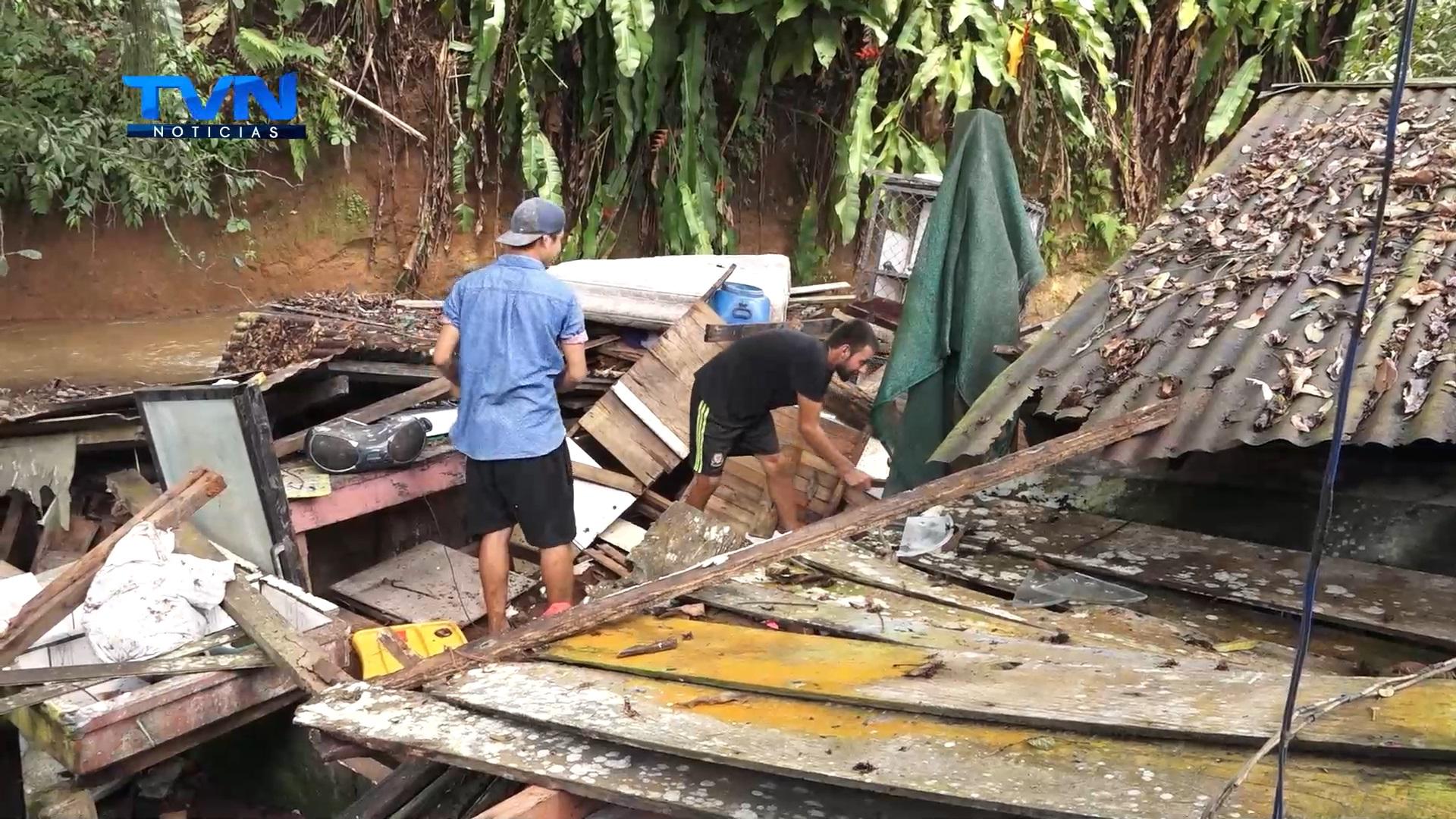 22 personas se vieron afectadas por las fuertes lluvias de este jueves en San Carlos
